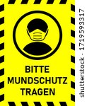 bitte mundschutz tragen  ...   Shutterstock .eps vector #1719593317