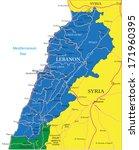 lebanon map   Shutterstock .eps vector #171960395