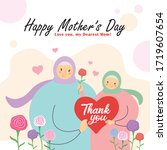 happy mother's day greeting... | Shutterstock .eps vector #1719607654