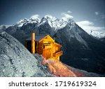 Overnight Alps Near The City Of ...
