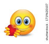 cute emoji giving love   heart  ... | Shutterstock .eps vector #1719620107