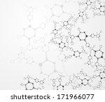eps10  dna molecule  abstract... | Shutterstock .eps vector #171966077