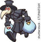 medieval plague doctor carrying ... | Shutterstock .eps vector #1719665164