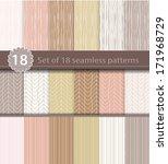 set of 18 seamless patterns ... | Shutterstock .eps vector #171968729