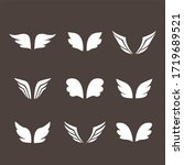 wings icon set birds and angel   Shutterstock . vector #1719689521