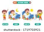 action verbs for children...   Shutterstock .eps vector #1719703921
