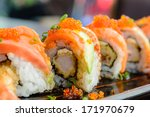 Sushi Roll With Salmon And...