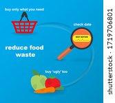 three ways that help reduce... | Shutterstock .eps vector #1719706801