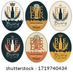 set of vector labels for craft... | Shutterstock .eps vector #1719740434