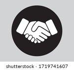 business hand shake icon ...   Shutterstock .eps vector #1719741607