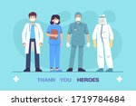 thank you to the doctors and... | Shutterstock .eps vector #1719784684