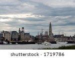 Skyline Of Antwerp  Alongside...