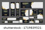 set of creative web banners of... | Shutterstock .eps vector #1719839521