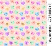 Candy Hearts Seamless Pattern   ...