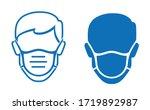 wear face mask stop coronavirus ... | Shutterstock .eps vector #1719892987