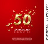 50th anniversary celebration.... | Shutterstock .eps vector #1719901444