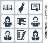vector higher education icons...   Shutterstock .eps vector #171991001