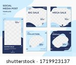 set of minimalist mockup frame... | Shutterstock .eps vector #1719923137