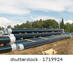 stock of pipes ready to put... | Shutterstock . vector #1719924