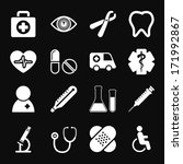 white medical icons set | Shutterstock . vector #171992867