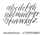 pastel pencil lettering... | Shutterstock . vector #1719935884