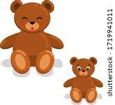 set teddy bear cute base... | Shutterstock .eps vector #1719941011
