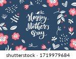 Happy Mother's Day  Vector Hand ...