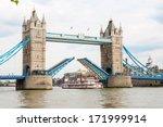 Tower Bridge Raised To Let Ship ...