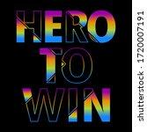 hero to win abstract gradient...   Shutterstock .eps vector #1720007191