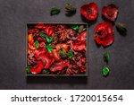 Carton Box With Red Potpourri...