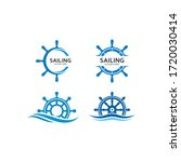 Ship Steering For Sailing Logo...