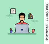 people working on computer with ...   Shutterstock .eps vector #1720031581