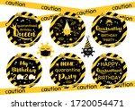 quarantine birthday cupcake... | Shutterstock .eps vector #1720054471