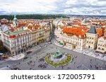 jan hus monument in old town... | Shutterstock . vector #172005791