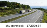 trucks and cars driving on... | Shutterstock . vector #17200684