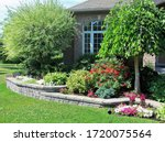 Raised Flower Bed Design With...