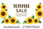 The Banner Of Summer Sale With...