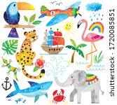 happy kids hand drawn... | Shutterstock .eps vector #1720085851