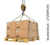 Cargo Delivery. Pallet With...