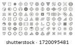 vector set. geometric shapes.... | Shutterstock .eps vector #1720095481