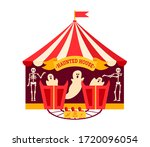 halloween haunted house flat.... | Shutterstock .eps vector #1720096054