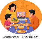 ramadan in the time of corona.... | Shutterstock .eps vector #1720103524