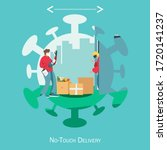 concept of no contact  delivery ... | Shutterstock .eps vector #1720141237