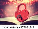 Heart Shaped Padlock With Key...