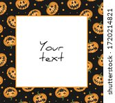 halloween square frame  scary... | Shutterstock .eps vector #1720214821