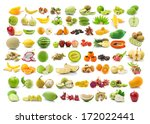 collection of fruits isolated... | Shutterstock . vector #172022441