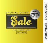vector illustration of a sale... | Shutterstock .eps vector #1720229851