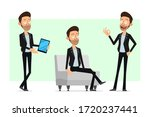 cartoon flat bearded rock and... | Shutterstock .eps vector #1720237441