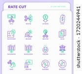rate cut thin line icon set ...   Shutterstock .eps vector #1720244941