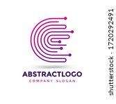 initial letter c digital... | Shutterstock .eps vector #1720292491